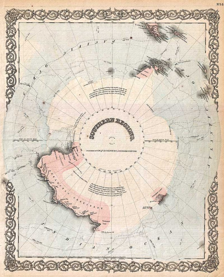 Old maps of the Antarctica