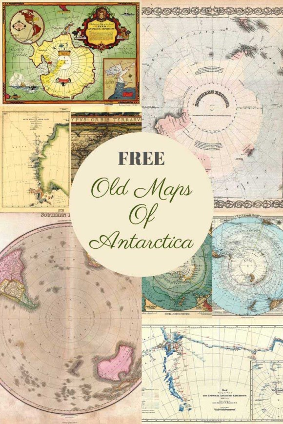 free old maps of Antarctica