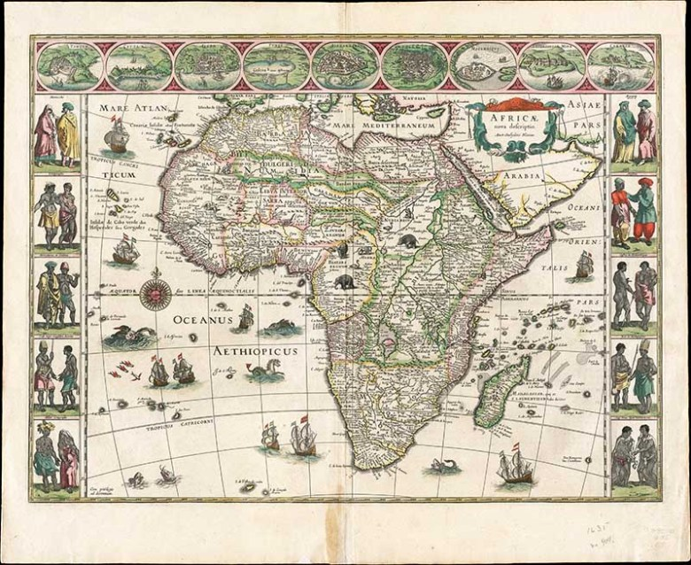 Illustrated historical map of Africa