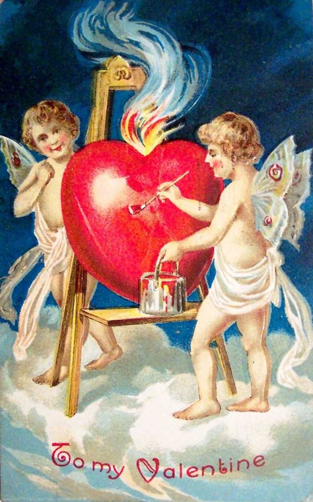 antique valentines day postcard