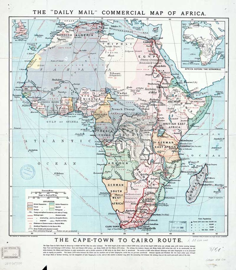vintage maps of Africa