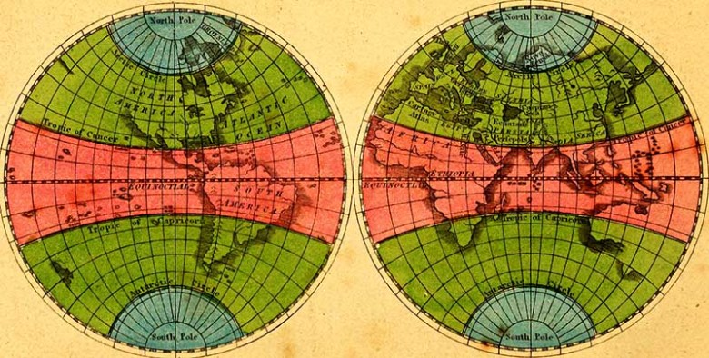colorful 2 globe map