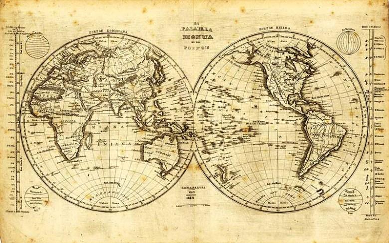 Hawaiian world map