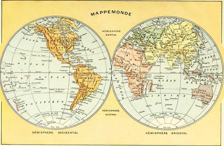 Mappemonde 1922