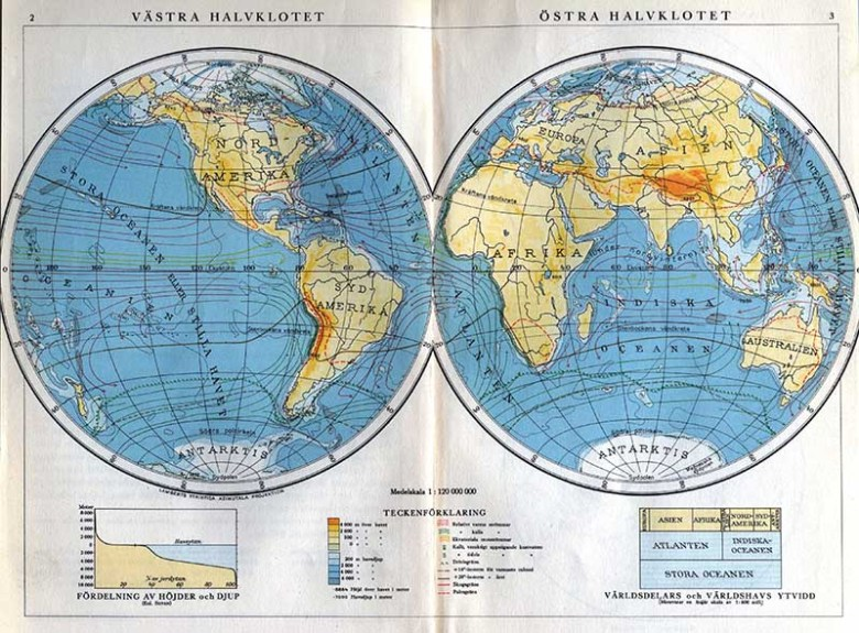 Swedish world map