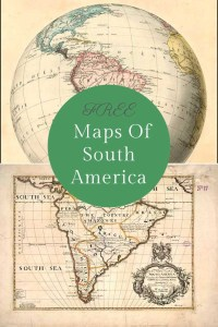 old maps of South America