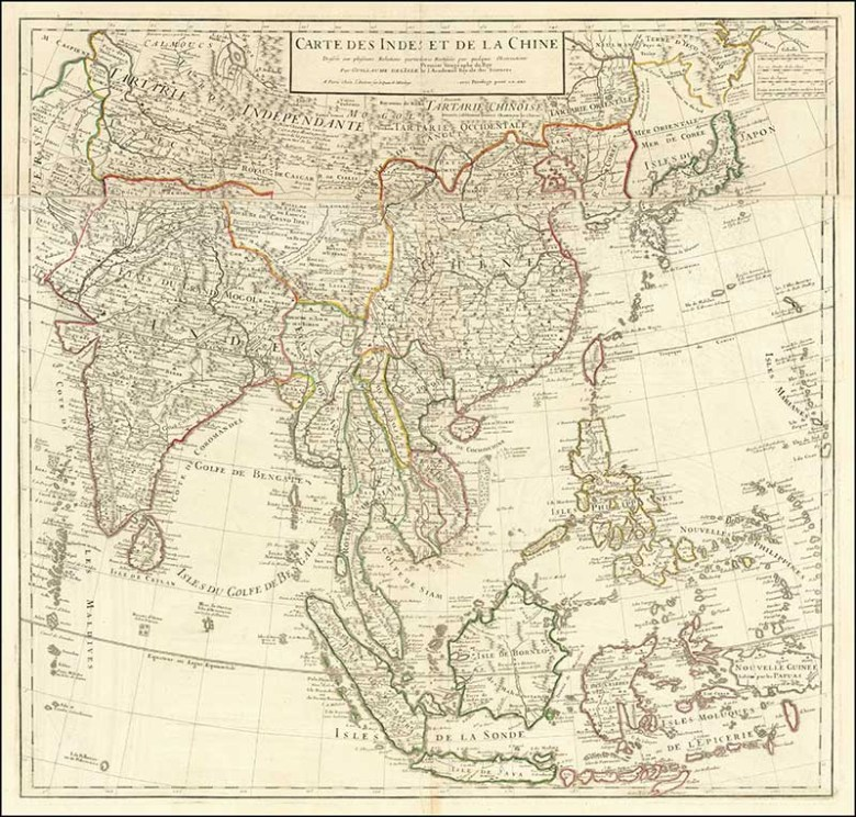 1705 map of India & China