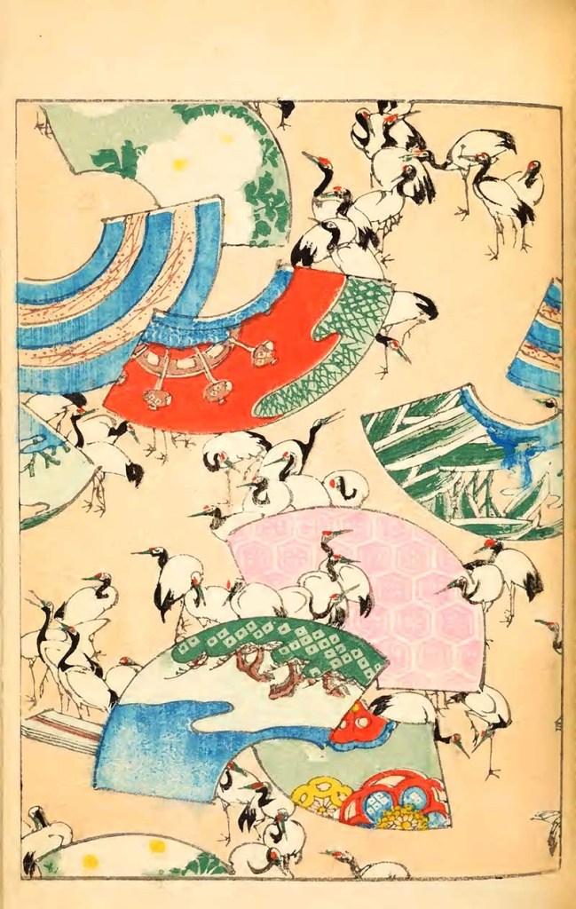 Shin-bijutsukai vintage art print of cranes