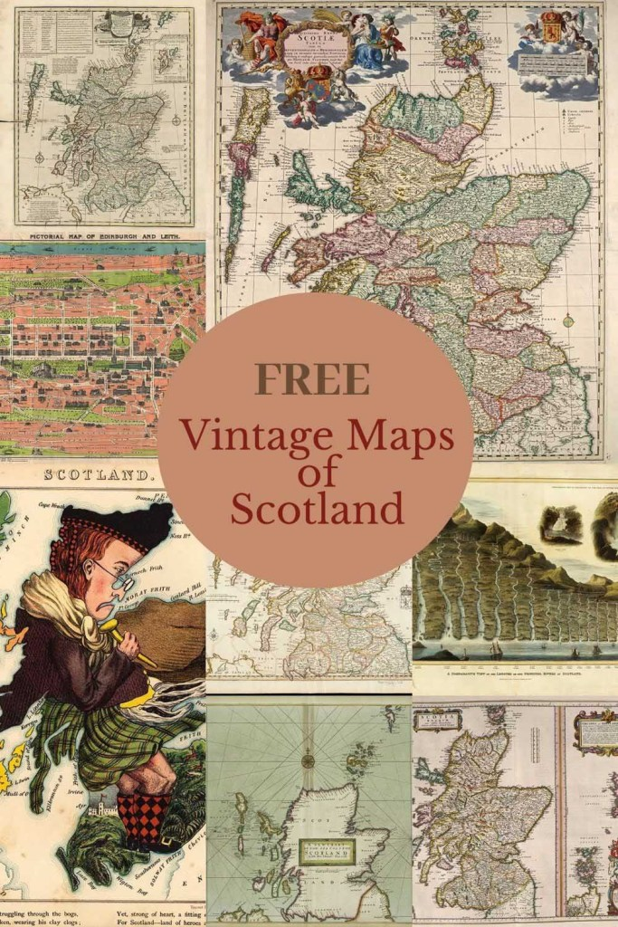 free vintage maps of Scotland to download.