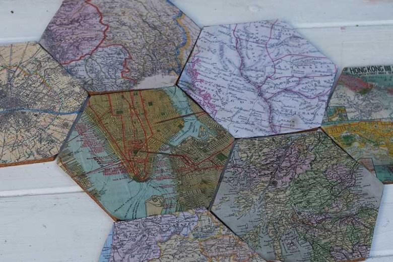 All map cork hexagons