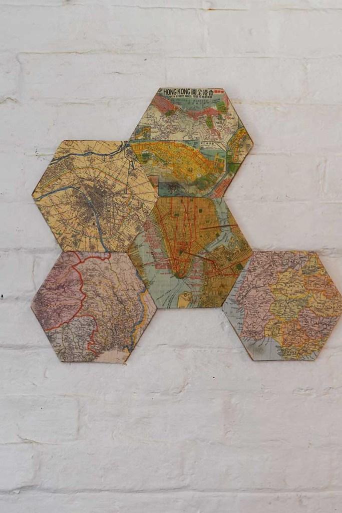 Arranging DIY map corkboard