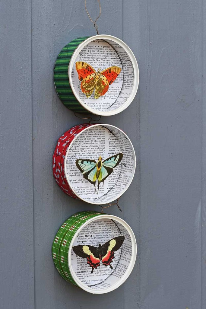 Three butterfly ornaments DIY