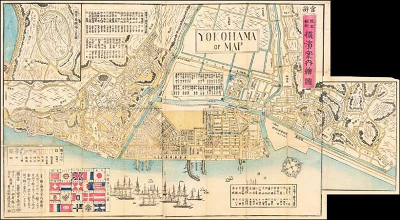 1870 Map of Yokohama Japan