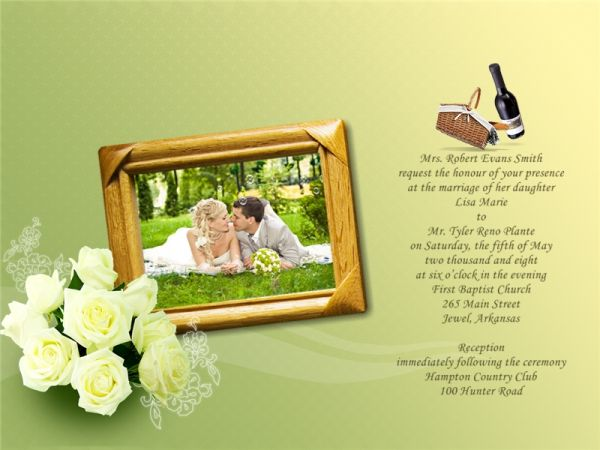 wedding invitation designs free download.  elegant wedding, Wedding invitation