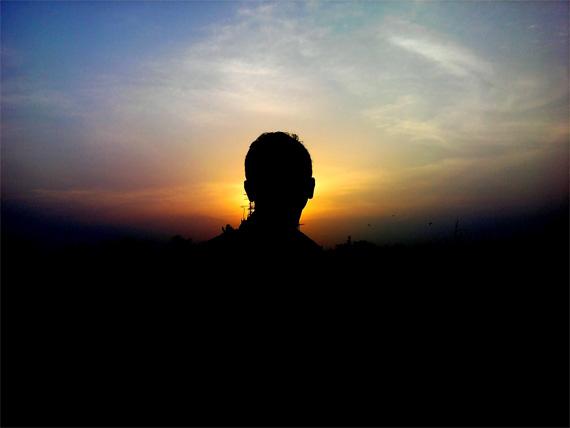 silhouette photography portrait