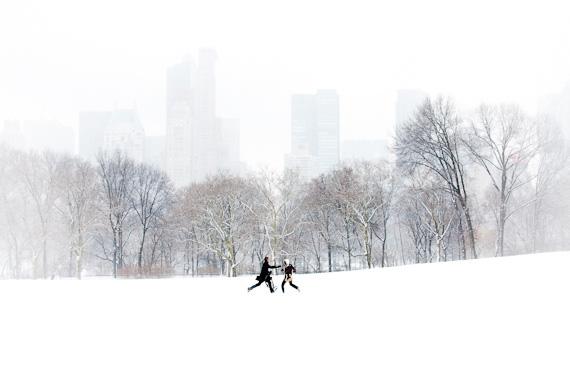 snow overcast conditions street image