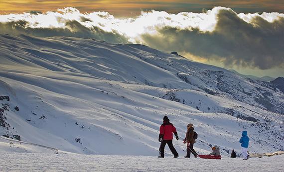 winter landscape color