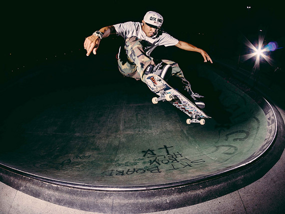 skateboard flash photography