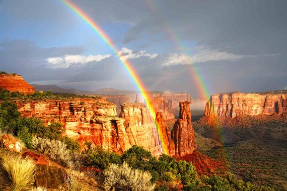 rainbow in nature