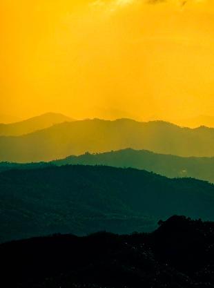 high contrast landscape photography