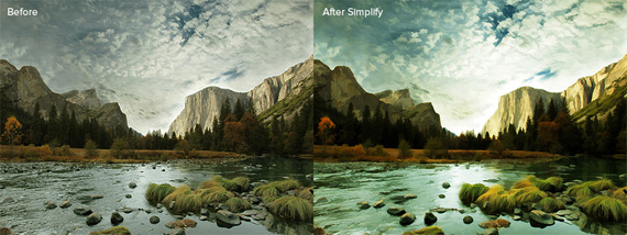 simplify before after
