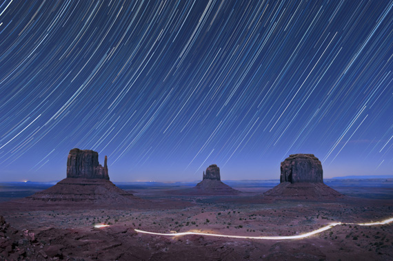 star trail landscape