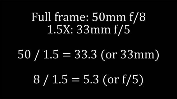 crop factor, depth of field