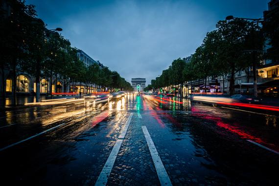 traffic photo at night