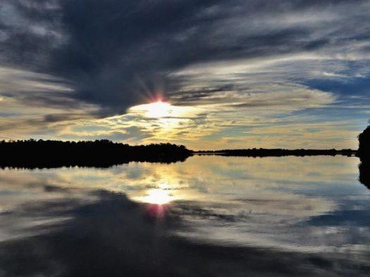 twilight hour landscape