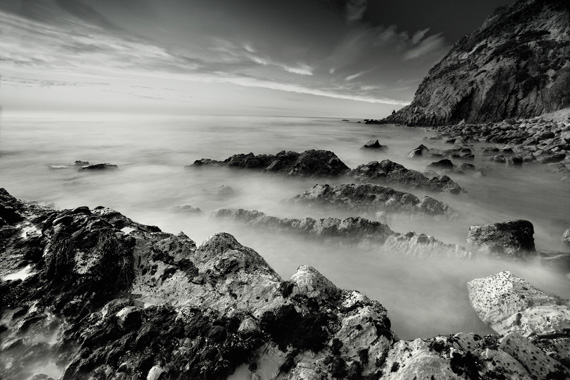 black white landscape