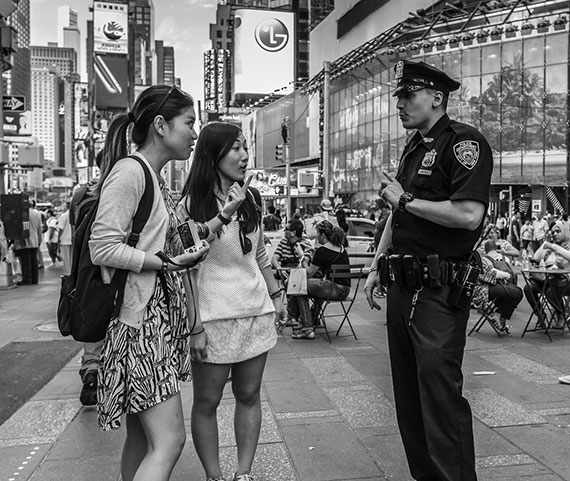 women with police officer nyc