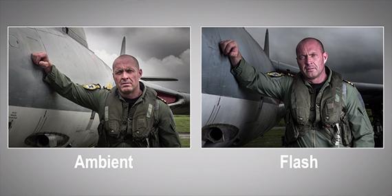 ambient, versus, flash, gaven, hoey, photography, portrait, pilot, overcast