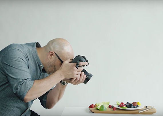 Food photography set up