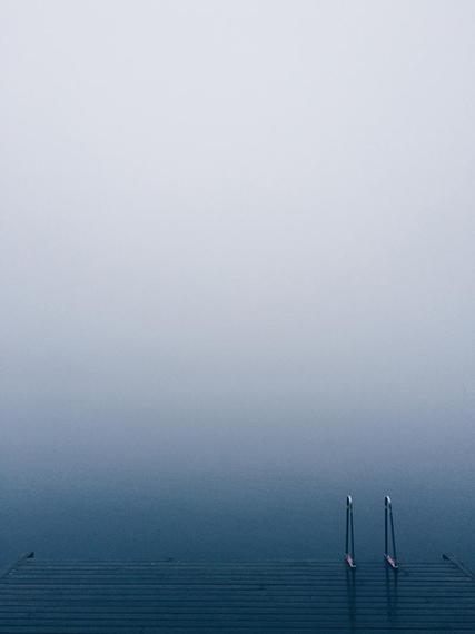 water surface mist