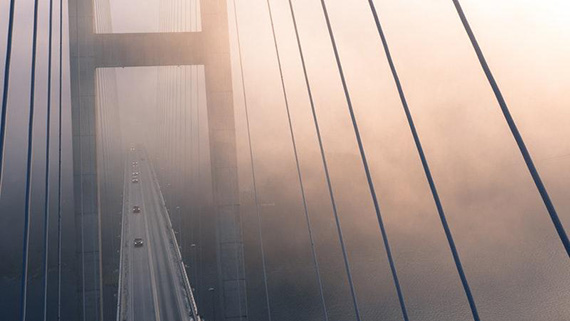 aerial fog and mist