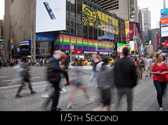 1/5 second exposure Time's Square