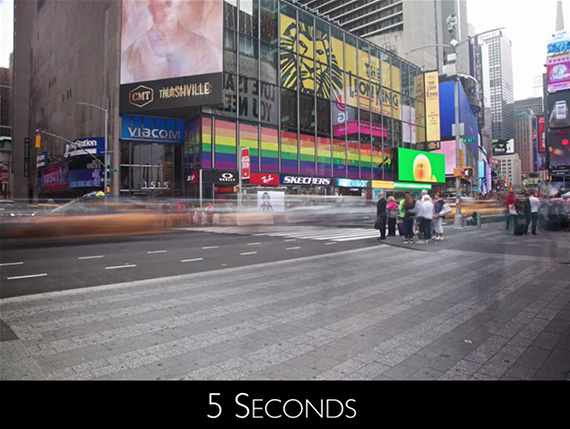 5 second exposure Time's Square