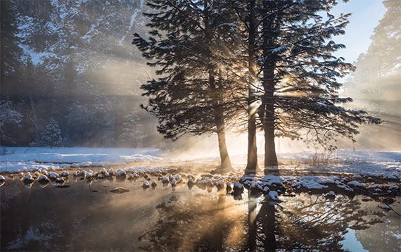 early morning winter photography
