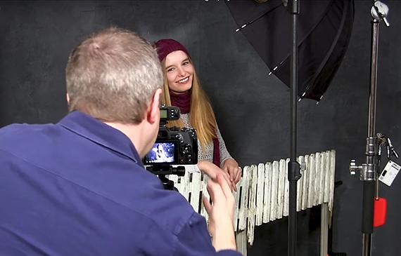 winter studio portraits