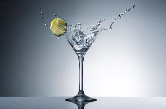 martini glass splash