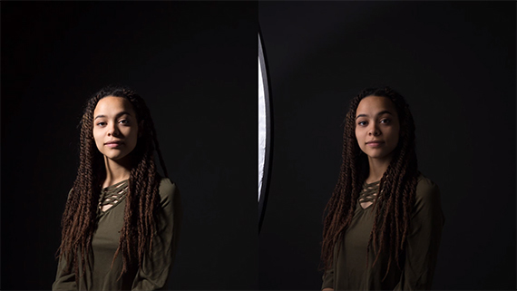 diffusion between light and subject