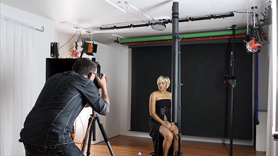 strip light behind the scenes