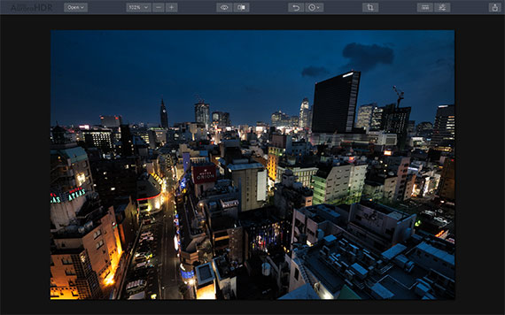 overlay added to cityscape image