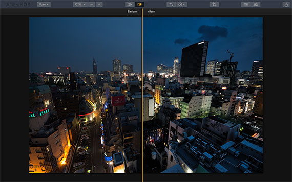 before after aurora presets