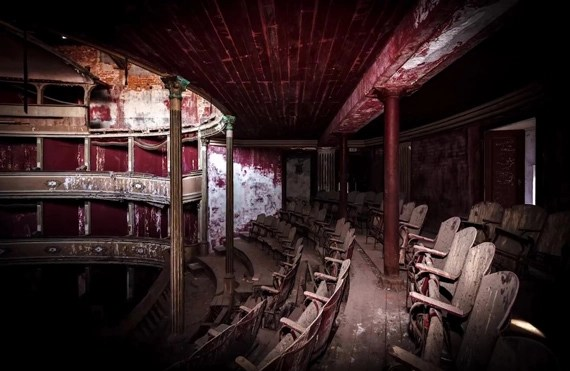 shadows add drama to abandoned building photos
