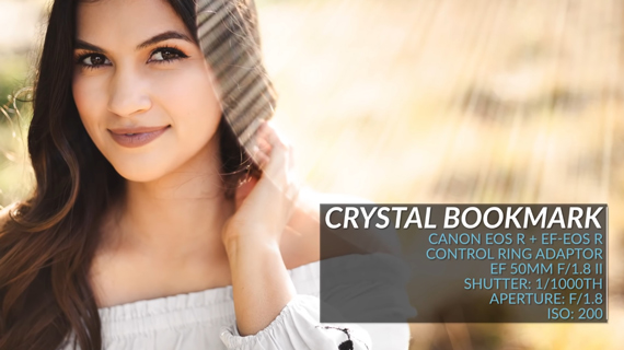 portrait photography hack using crystal bookmark