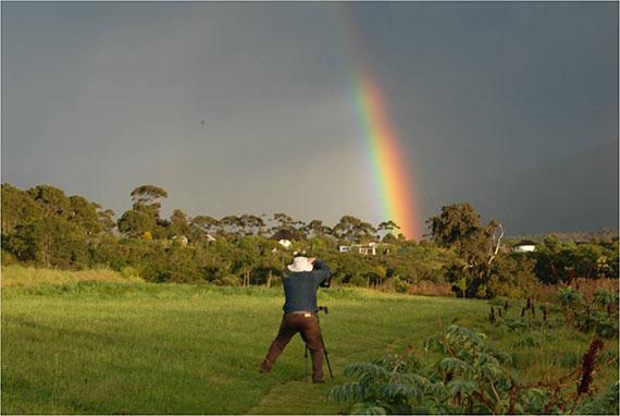 rainbow with polarizing filter