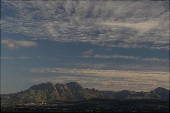 sky with polarizing filter