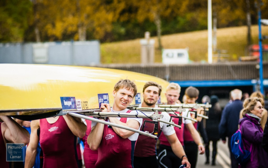 The victorious Eights crew from Oxford Brookes University