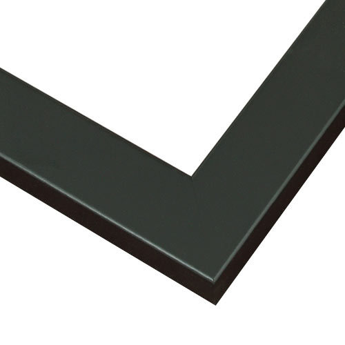 satin black wood picture frame